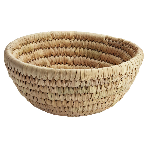 Round Palm Leaf Bowl Natural