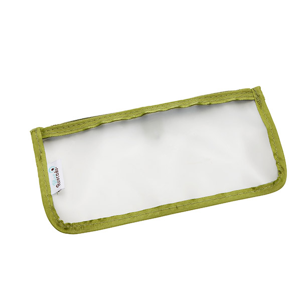 Small Travel Zippered Pouch Green