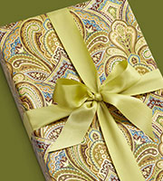 Paisley Metalized Gift Wrap
