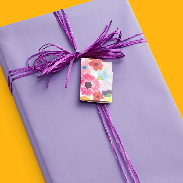 Embossed Lavender Gift Wrap