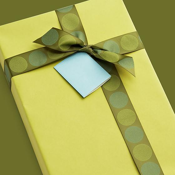 Chartreuse Gift Wrap