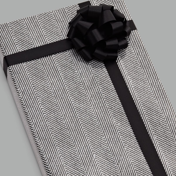 Black & White Herringbone Gift Wrap