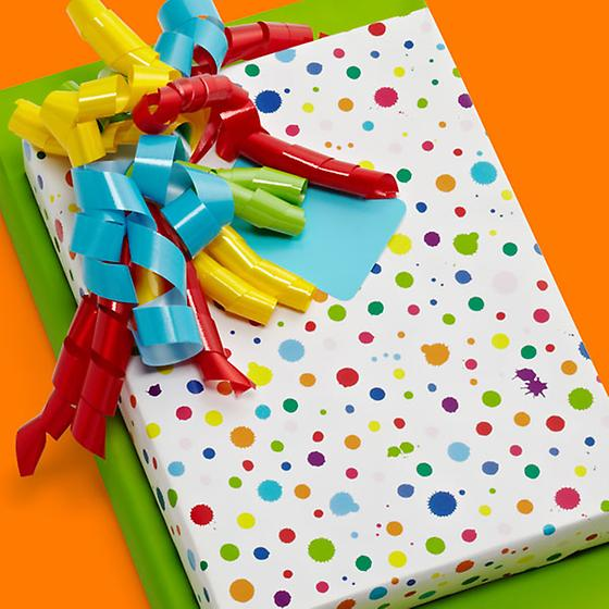 Splatter Paint Gift Wrap