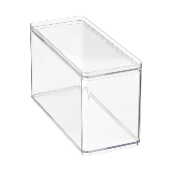 Deep Narrow Stackable Rectangle Clear
