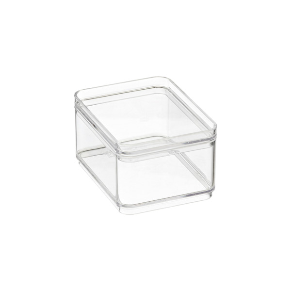 Shallow Mini Stackable Rectangle Clear Lid