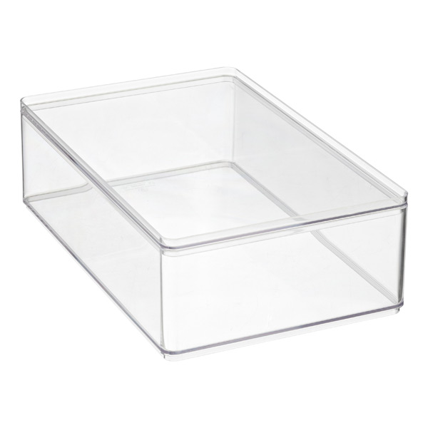 Medium Stackable Rectangle Clear
