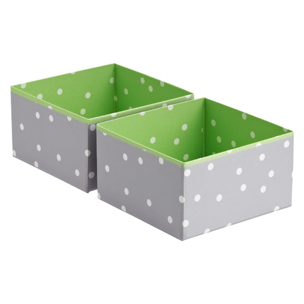 Bigso Pippi Drawer Organizer Green Pkg/2
