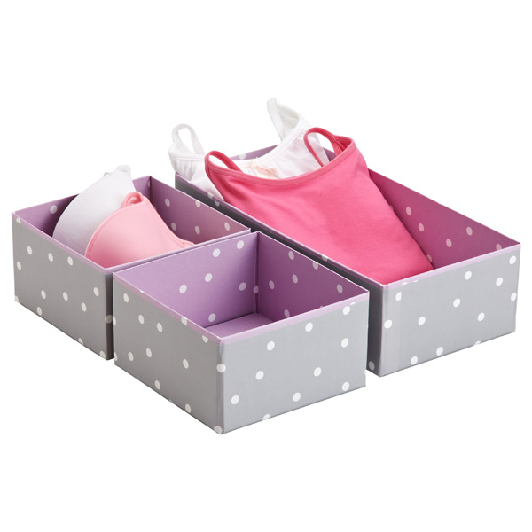 Purple Bigso Pippi Drawer Organizers