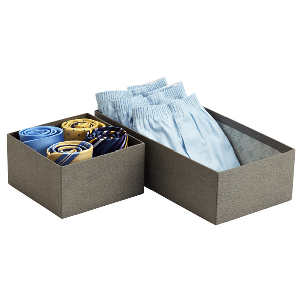 Grey Bigso Marten Drawer Organizers
