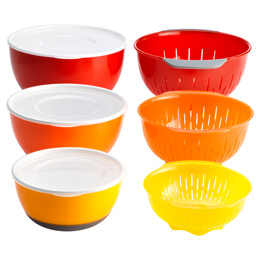 9-Piece Nesting Bowl & Colander Set by OXO