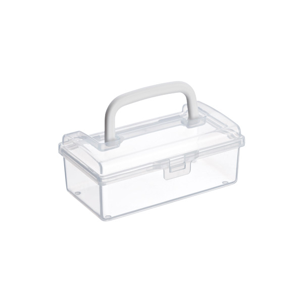 X-Small Mini Storage Box w/ Handle Clear