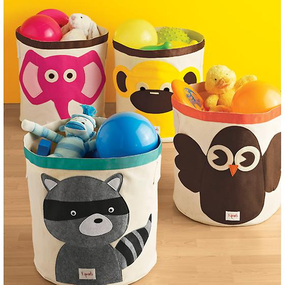 Raccoon Canvas Bin by 3 Sprouts
