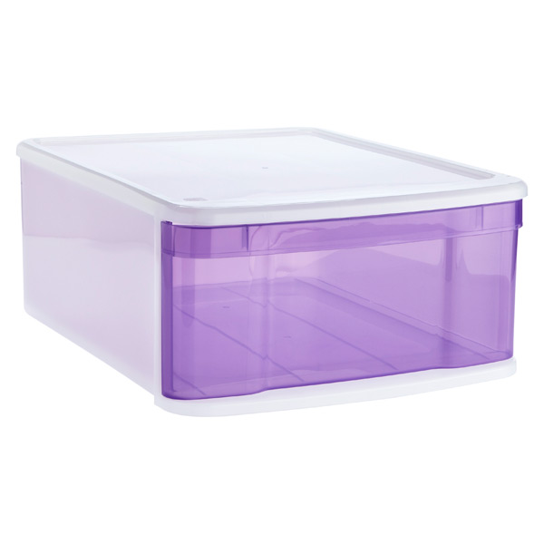 Large Tint Stacking Drawer Purple