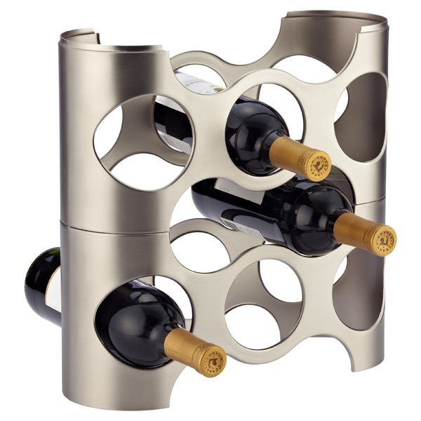 Nickel Napa Wine Rack by Umbra