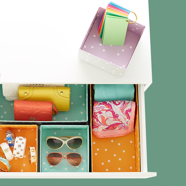 Blue Bigso™ Pippi Drawer Organizers