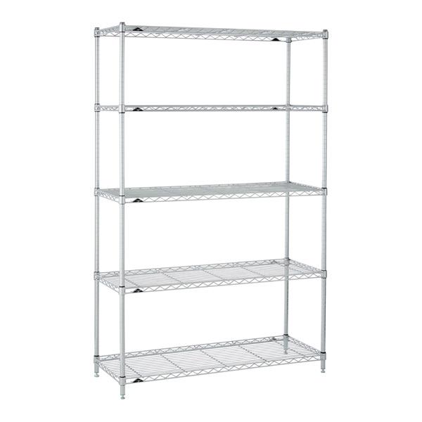 Kitchen Shelves Silver