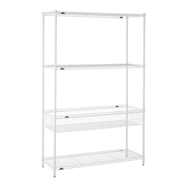 Basket Shelf Solution White