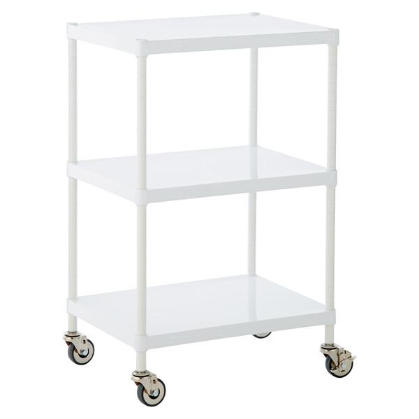 Solid Shelf Serving Cart White