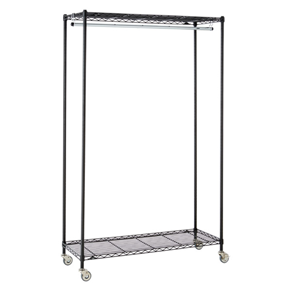 InterMetro Large Garment Rack Black