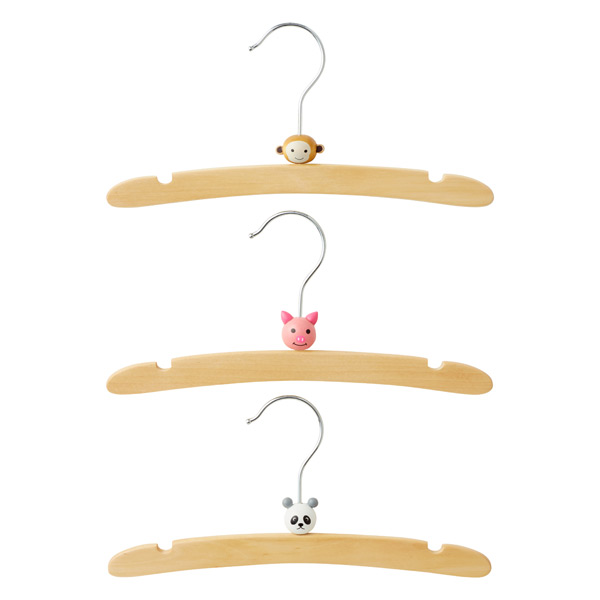 Infant Animal Hanger Zoo Pkg/3