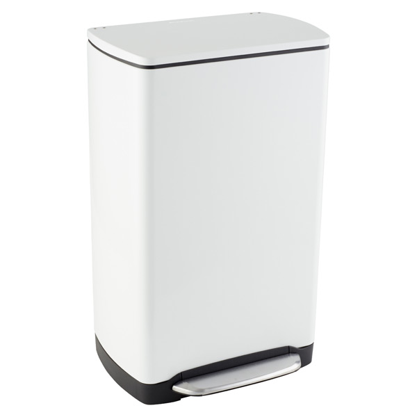 simplehuman® 10 gal. White Rectangular Wide-Step Can