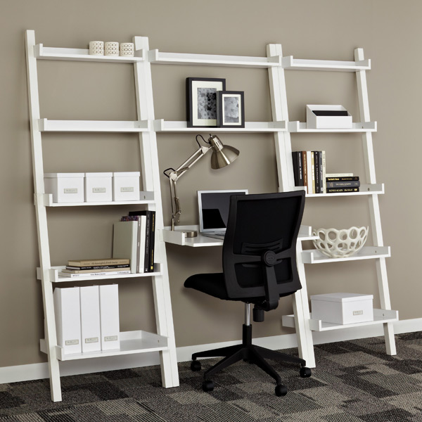 Leaning Bookcase With Drawers White Linea Leaning Bookcase