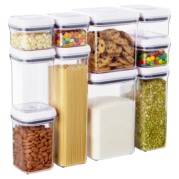 Good Grips 10 Piece Pop Canister Set The Container Store