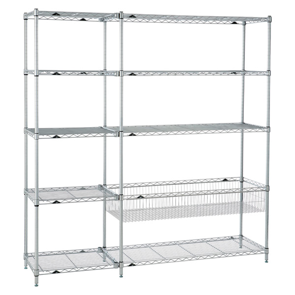 Playroom Shelving Silver