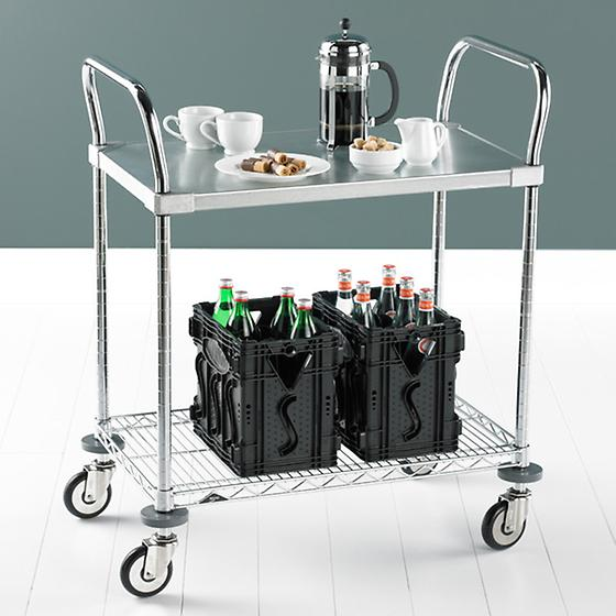 Metro Commercial Solid Shelf Serving Cart