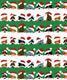 Christmas Peek-A-Boo Pets Wrap White/Green/Red