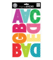 Multi Color Jumbo Uppercase Alphabet Stickers