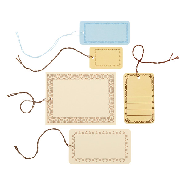 Bordered Manila Gift Tags Pkg/25