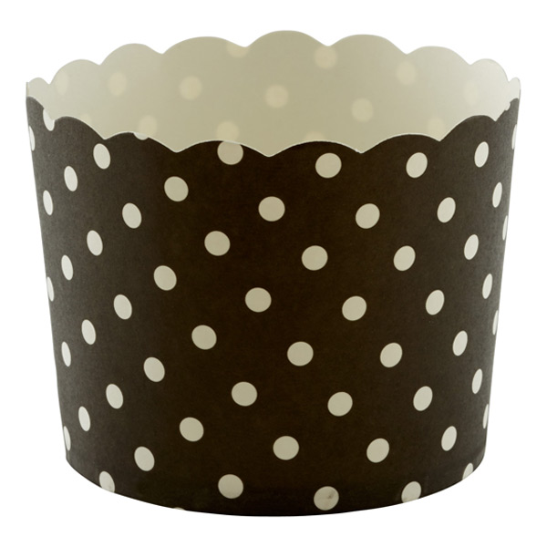 Large Baking Cups Dots Black Pkg/20