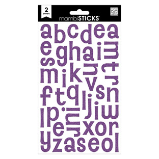 Purple Glitter Alphabet Stickers