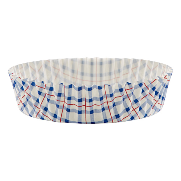 Plaid Ruffled Baking Cups Blue/Red/White Pkg/30