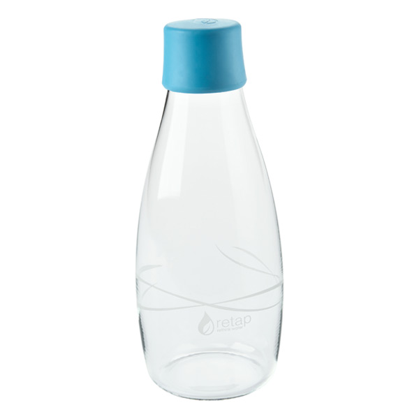 16 oz. Retap Glass Water Bottle Blue