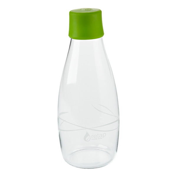 16 oz. Retap Glass Water Bottle Green