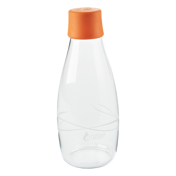 16 oz. Retap Glass Water Bottle Orange