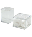 Acrylic Square Canisters with Lids