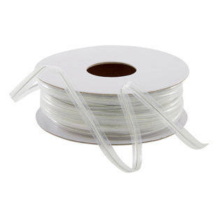 Clear Metallic Wire Ribbon