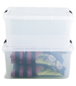 17 gal. Clear Tote with Locking Lid