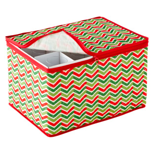 Chevron Holiday Stemware Chest