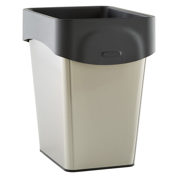 grocery bag trash can the container store. Black Bedroom Furniture Sets. Home Design Ideas