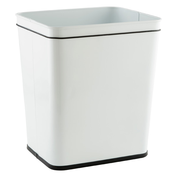 7 gal. Rectangular Undercounter Can White