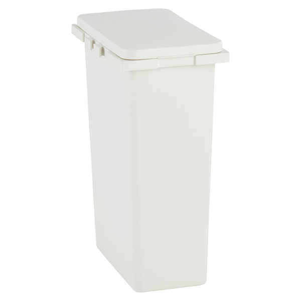 8 gal. Connectable Trash Can White