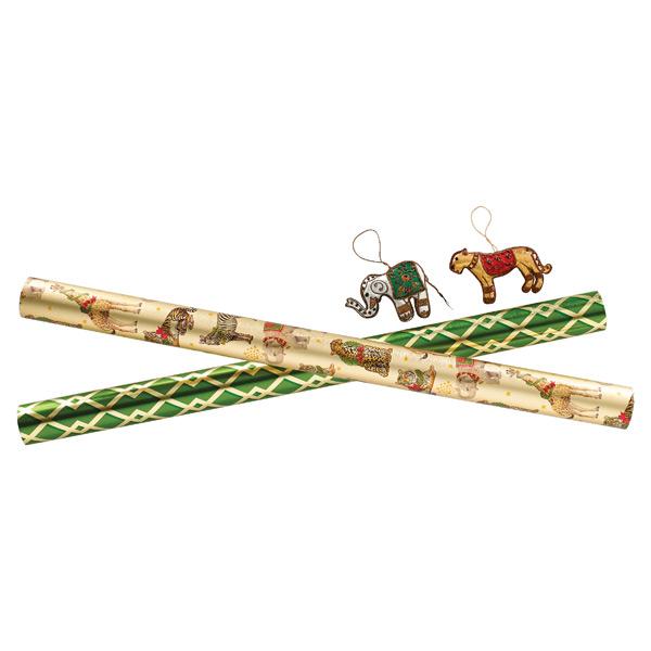 Wild Holiday Animals Gift Wrap