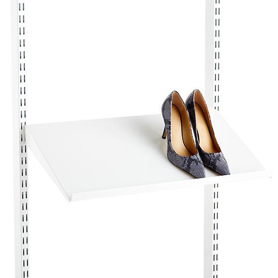 White elfa Angled Solid Metal Shelves