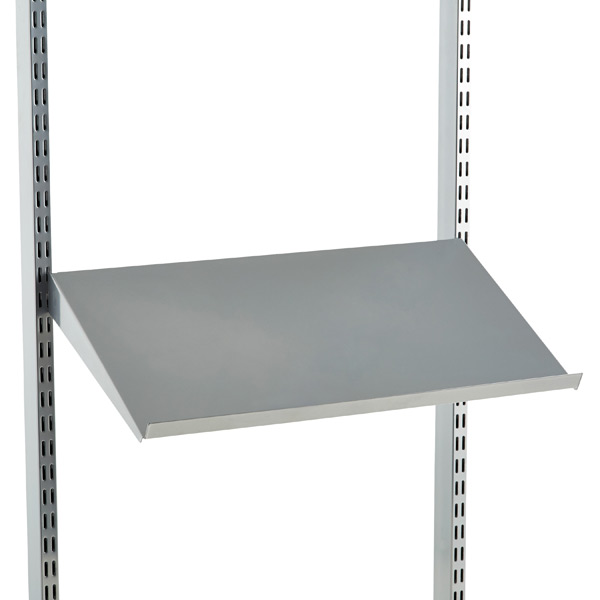 Platinum elfa Angled Solid Metal Shelves