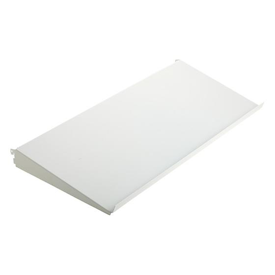 White elfa Angled Solid Metal Shelves