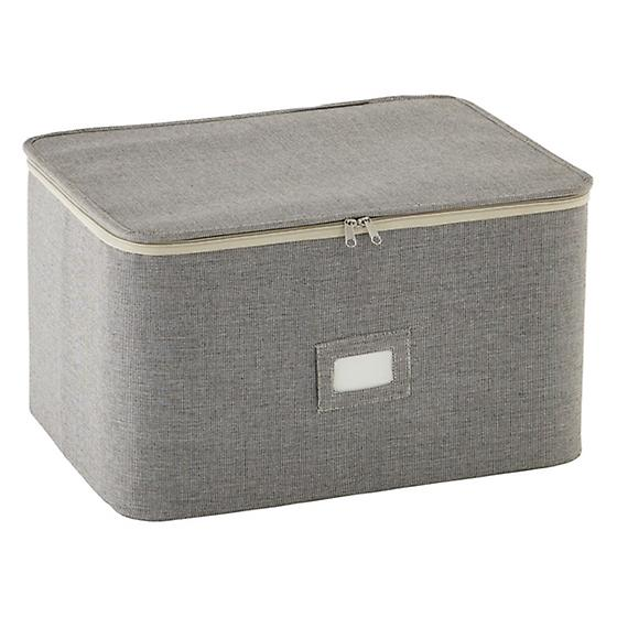 Brown Twill Stemware Storage Case